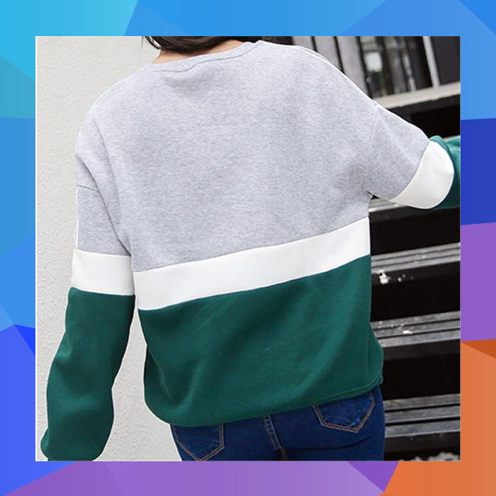 90s nostalgic stripe crewneck sweater