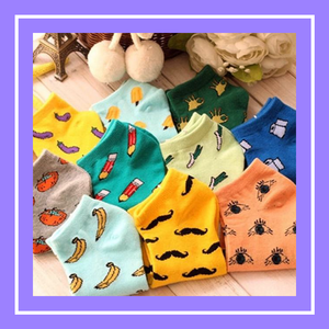 Cute kawaii funny toilet paper socks