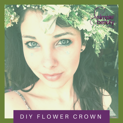 DIY Flower Crown Tutorial + Spring Makeup Ideas Featuring Peacock Mineral Eye Shadow