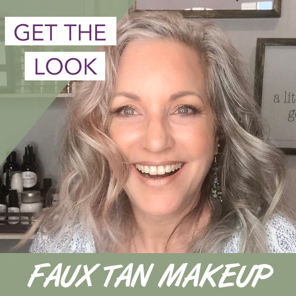 Get The Look Faux Tan - lisa with fake tan makeup application