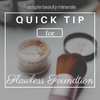 Flawless Mineral Foundation Application - simplebeautyminerals.com
