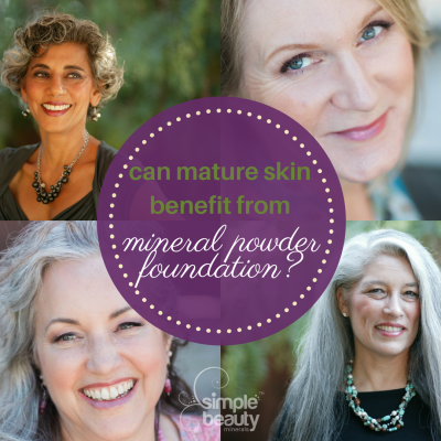 mature women wear powder foundation - simplebeautyminerals.com