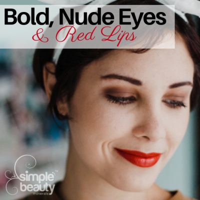 Bold Nude Eyes & A Red Lip