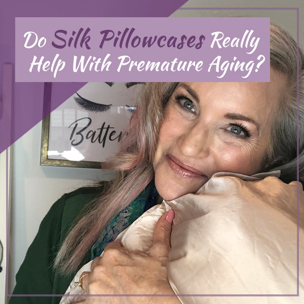 "lisa holding silk pillowcase ""do silk pillowcases really help with premature aging?"""