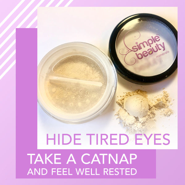 catnap powder concealer - hide tired eyes