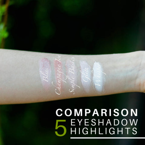 Comparison: Five Eyeshadow Highlights