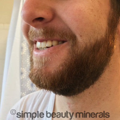 crisp cucumber toner + light olive oil lotion | Beard care routine | Simple Beauty Minerals
