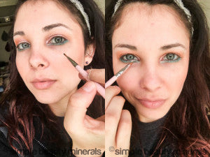 Spring Makeup Ideas Featuring Peacock Mineral Eye Shadow | Simple Beauty Minerals