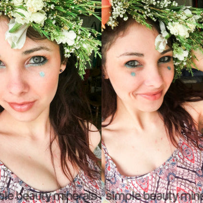 DIY Flower Crown Tutorial + Spring Makeup Ideas Featuring Peacock Mineral Eye Shadow | Simple Beauty Minerals