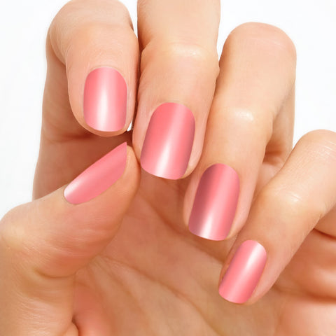 Caribbean coral color street real nail polish strips - simplebeautyminerals.com