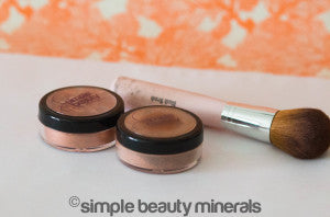 Finishing Powder + Shimmer Cheek Color | Simple Beauty Minerals