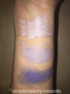 Lavender Silver, Iris, Blue Opal Mineral Makeup | Simple Beauty Minerals