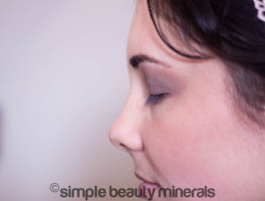 Deep Earth Brow Powder with Soft Touch Mineral Eyeshadow + Red Plum Mineral Eyeshadow | Simple Beauty Minerals
