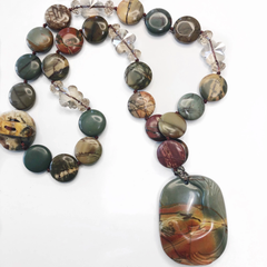alison necklace - agate and jade - simple beauty minerals