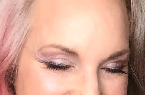 eye makeup with colors from sugar plum collection