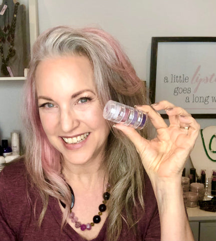 lisa holding sugar plum collection in hand