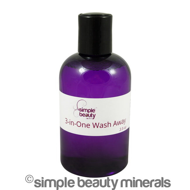 simple beauty minerals - 3-in-One Wash Away all purpose facial cleanser