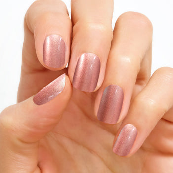At the Plaza Color Street Real Nail Polish Strips Pale Pink Shimmer