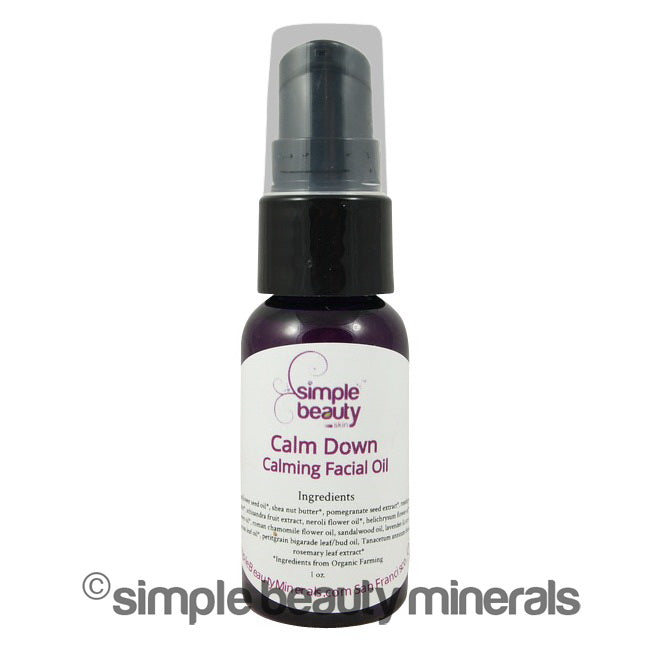 Calming Serum  facial oil- simplebeautyminerals.com