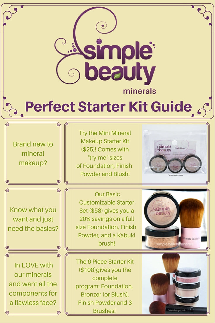 Simple Beauty Minerals - Basic Customizable Mineral Makeup Starter Set