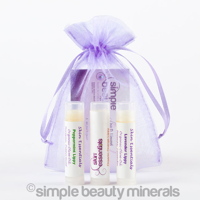 Simple Beauty Minerals - Organic Lip Balms 3 Pack