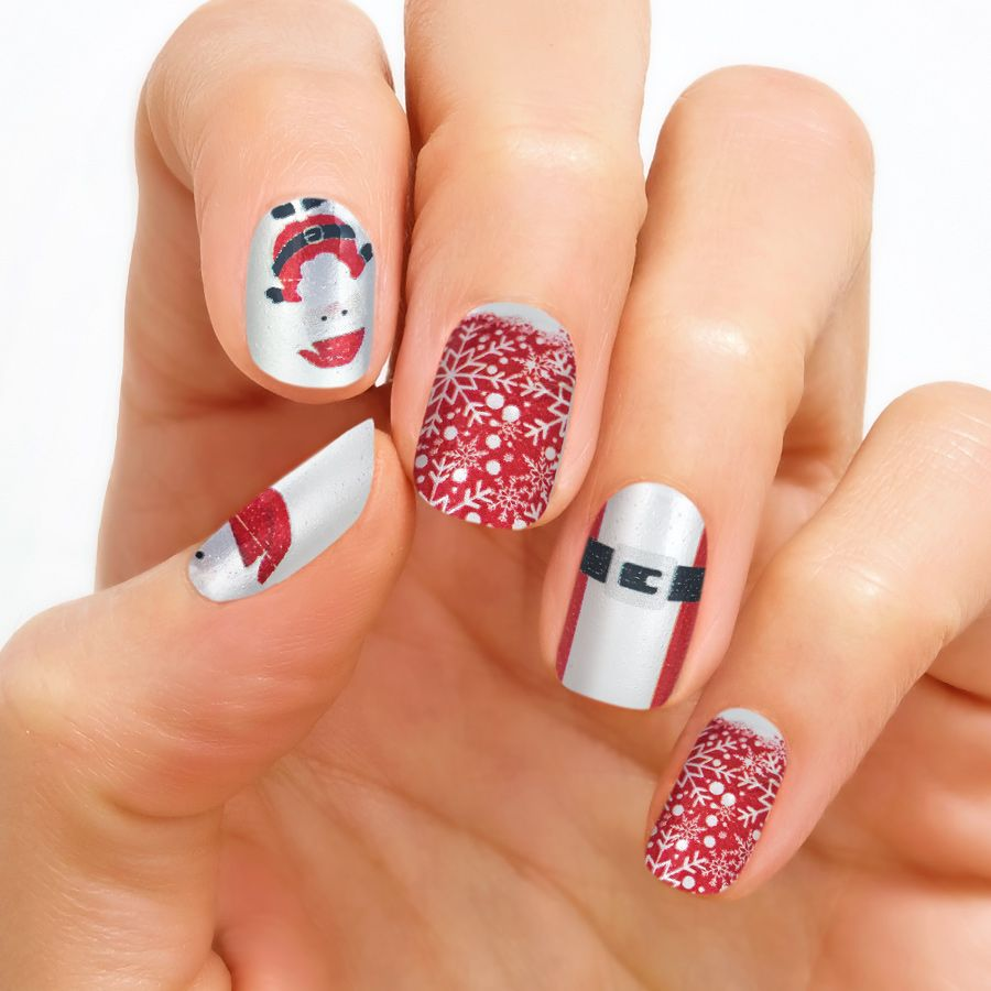 Father Christmas Real Nail Polish Strips