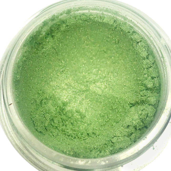 mint green shimmer eyeshadow pot