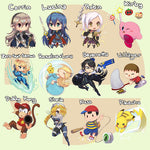 "SUPER SMASH BROS 4 2"" Double-sided Keychains"