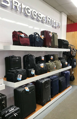 Full selectiojn of Briggs and Riley luggage at Leather World