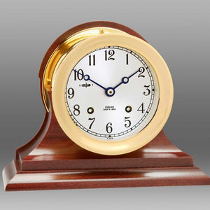"4-1/2"" Ship's Bell Clock,  Traditional Base"