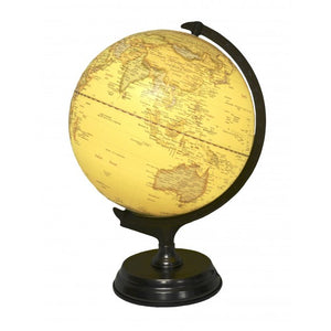 LED Table Globe with Pewter Base