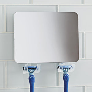 Fogless Mirror with 2 Razor Holders