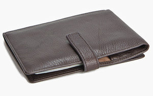 Cashmere Leather Passport Ticket Wallet