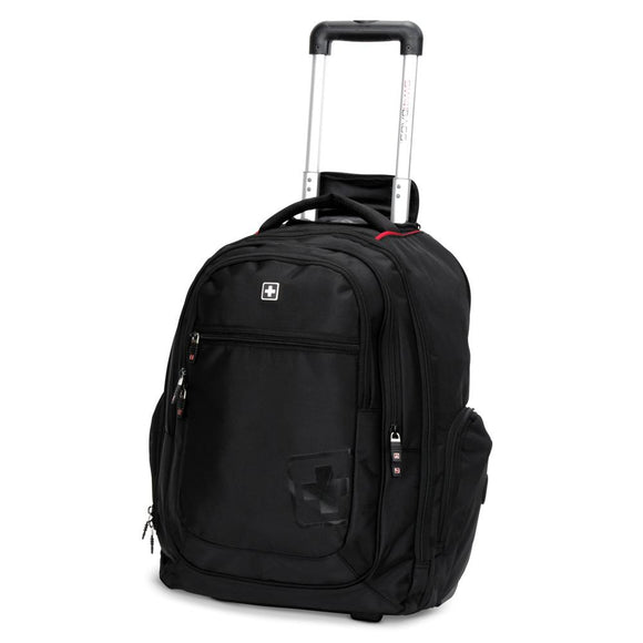 Black Line Traveler Rolling Backpack