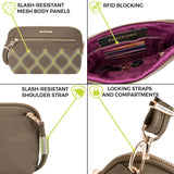 Anti-Theft Tailored Convertible Crossbody Clutch