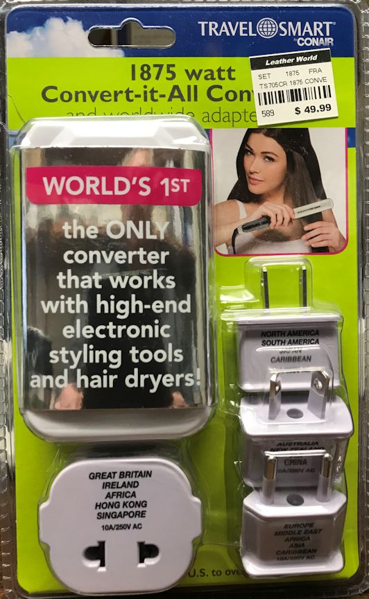 Converter for Flat Irons and Curling Irons