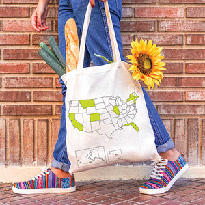 Travel Cotton Tote Bag with Marker