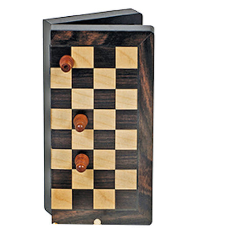 "8"" Walnut Folding Magnetic Chess Set"