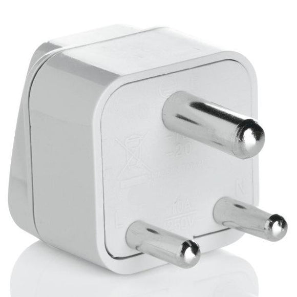 Grounded Adapter Plug - India, Hong Kong, parts of South Africa, Singapore