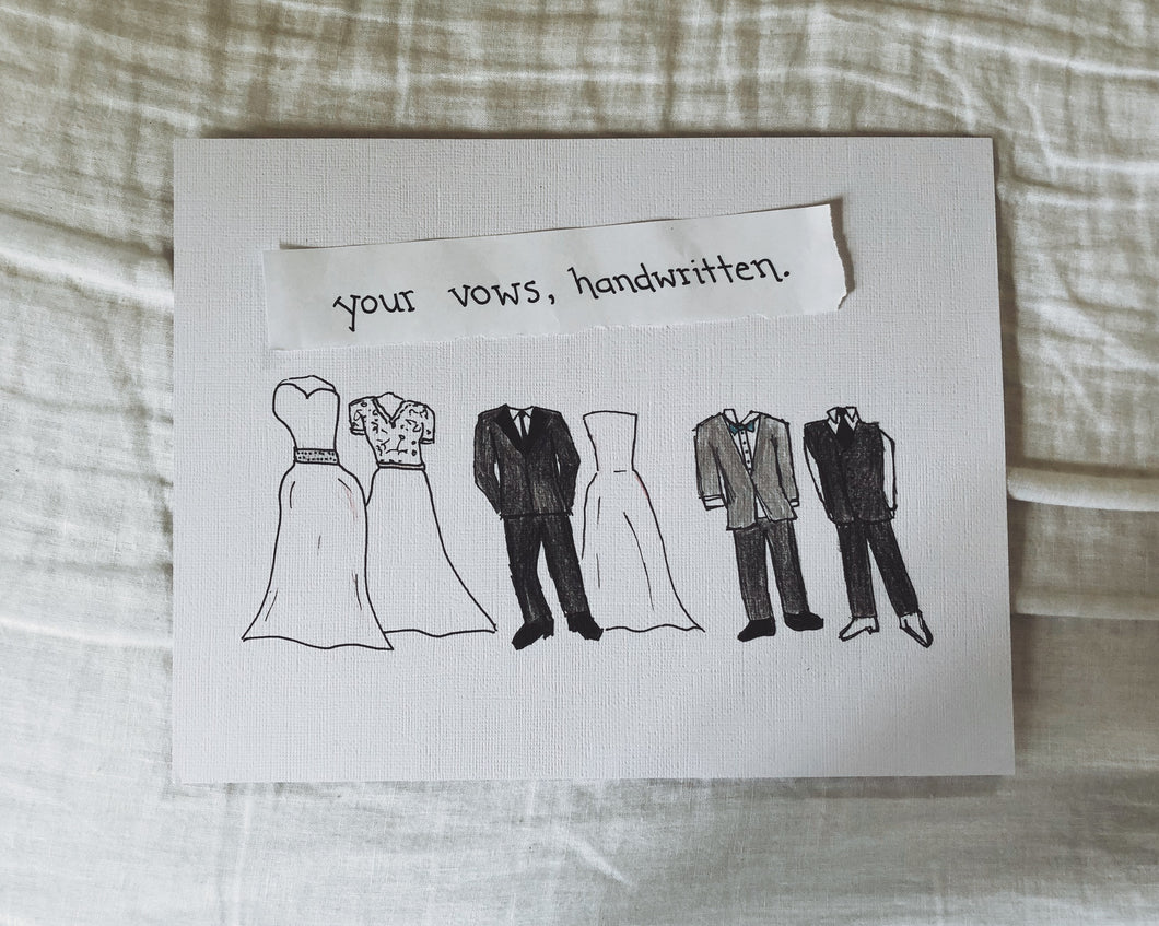 Handwritten Vows Art (Artwork Only)