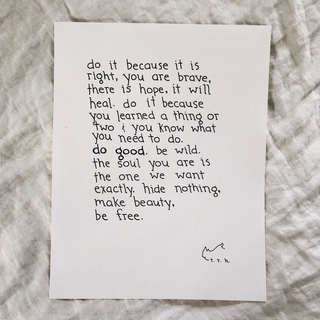 Do Good // Poem