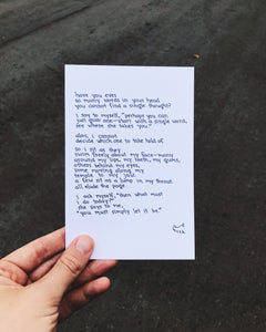 Writing with Anxiety // Poem