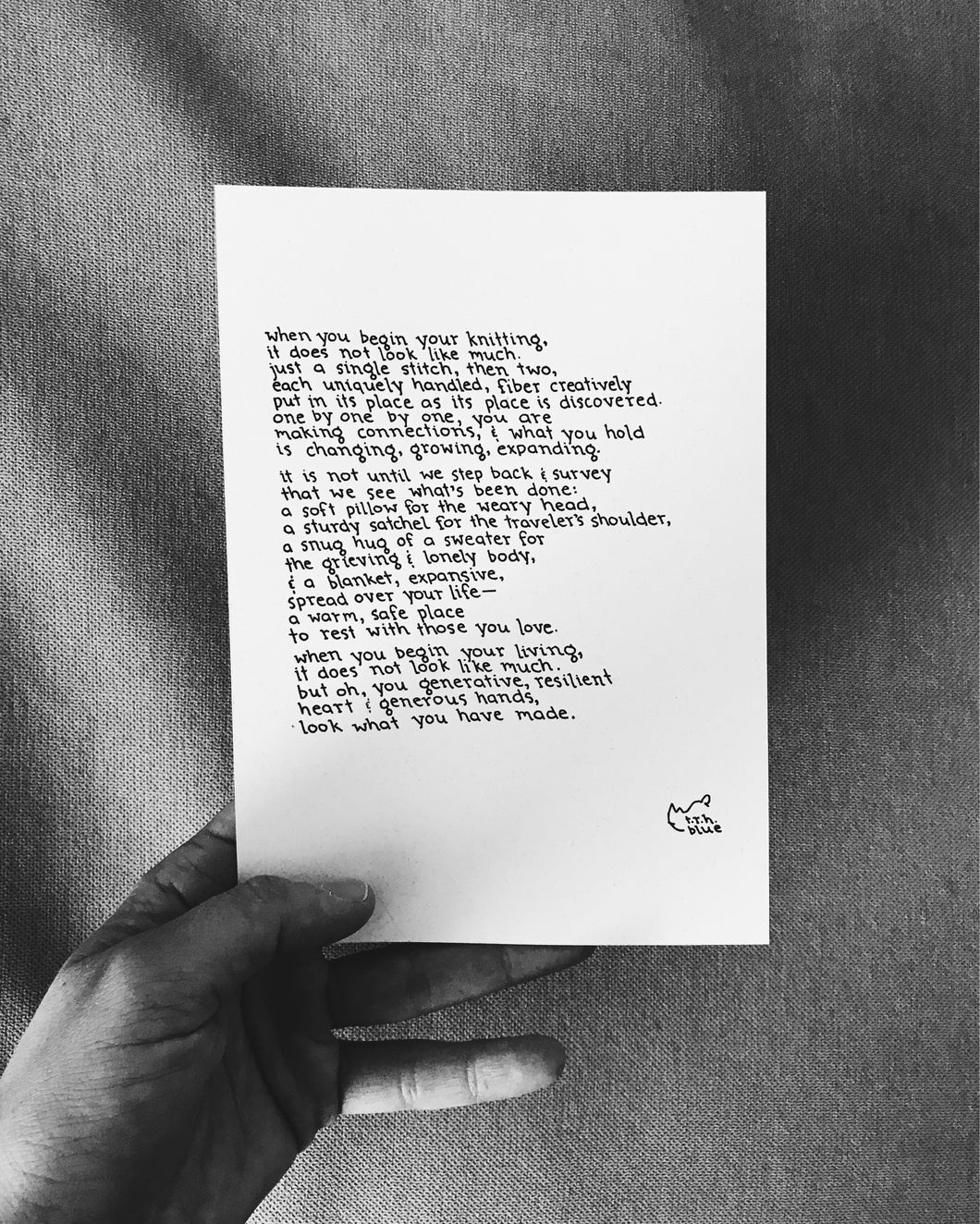 Knitting // Poem