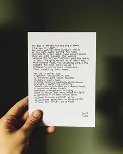 To Love the World (Evergreen) // Poem