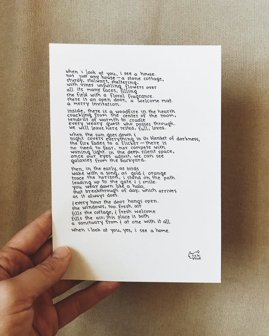 I See a Home // Poem