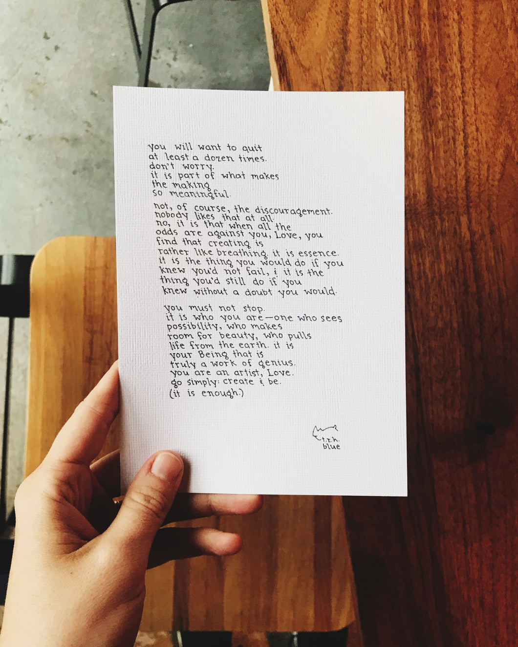 You Are an Artist // Poem