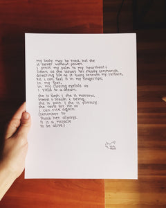 To Thank Her Always // Poem