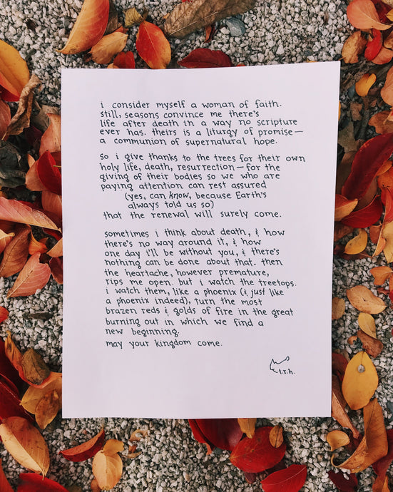 A Prayer to the Trees // Poem