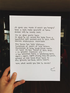 Kitchen Creed (Dinner Will Be Ready Soon) // Poem