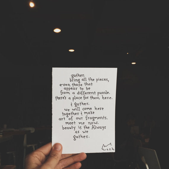Gather // Poem
